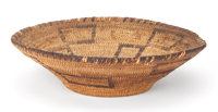 The Collection of Paul Gregory and Janet Gaynor  A SOUTHWEST BASKETRY BOWL 10 inches in diameter