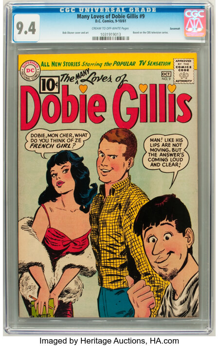 The Many Loves of Dobie Gillis #9 Savannah pedigree (DC, 1961) CGC NM 9.4 Cream to off-white pages. ...