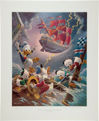 Carl Barks Afoul of the Flying Dutchman Regular Edition Lithograph #137/345 (Another Rainbow, 1985).... (Total: 2 Items)