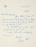 Autographs:U.S. Presidents, Gerald Ford Autograph Letter Signed as Vice President. One page, onembossed letterhead bearing the Seal of the United State...