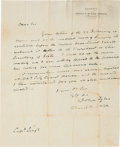 Autographs:U.S. Presidents, John Tyler Autograph Letter Signed as Vice President with a Franking Signature. ...