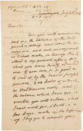 "Autographs:U.S. Presidents, James Monroe Autograph Letter Signed as Secretary of State. Fourpages, penned on first two pages only, 5"" x 7.75"", Washingt..."