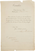 Autographs:U.S. Presidents, James Buchanan as Secretary of State Document Signed. ...