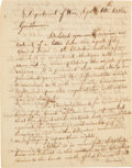 Autographs:Statesmen, Secretary of War William H. Crawford Chickasaw Treaty LetterSigned, ...