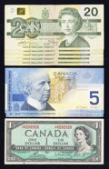 Canadian Currency: , Bank of Canada Fancy Serial Number Group Lot.. ... (Total: 8 notes)