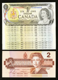 Canadian Currency: , Mixed Lot of $1 and $2 Canadian Notes.. ... (Total: 16 notes)