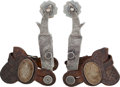 Western Expansion:Cowboy, Outstanding Engraved Parade Style Double Mounted Spurs, Circa1940s.... (Total: 2 Items)