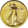 High Relief Double Eagles: , 1907 $20 High Relief, Wire Rim VF30 PCGS. An unusual grade for a High Relief Wire rim, as the majority of certified coins a...