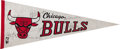 Basketball Collectibles:Others, 1984 Chicago Bulls Team Signed Pennant with Rookie MichaelJordan....
