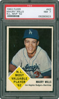 Baseball Cards:Singles (1960-1969), 1963 Fleer Maury Wills #43 PSA NM 7....