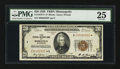 Small Size:Federal Reserve Bank Notes, Fr. 1870-I* $20 1929 Federal Reserve Bank Note. PMG Very Fine 25.. ...