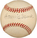 Autographs:Baseballs, Circa 1940 Connie Mack Single Signed Baseball....