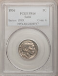 Proof Buffalo Nickels, 1936 5C Type One--Satin Finish PR66 PCGS....