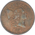 Half Cents, 1795 1/2 C Lettered Edge AU55 PCGS. C-1, B-1, R.2....