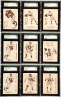 Football Cards:Sets, 1960 7-11 Dallas Texans SGC-Graded Collection (18) With Near Set (7/11). ...