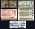 Canadian Currency: , Canadian Group Lot Good or Better.. ... (Total: 15 notes)