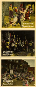 "Movie Posters:Drama, Orphans of the Storm (United Artists, 1921). Lobby Cards (3) (11"" X 14"").. ... (Total: 3 Items)"