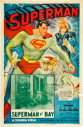 "Movie Posters:Serial, Superman (Columbia, 1948). One Sheet (27"" X 41""). Chapter 14 --""Superman at Bay."". ..."
