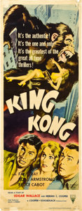"Movie Posters:Horror, King Kong (RKO, R-1956). Insert (14"" X 36"").. ..."