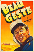 "Movie Posters:Adventure, Beau Geste (Paramount, 1939). One Sheet (27"" X 41"") Teaser Style B.. ..."