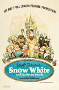 "Movie Posters:Animation, Snow White and the Seven Dwarfs (RKO, 1937). One Sheet (27"" X 41"").Style B.. ..."