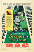 "Movie Posters:Hitchcock, Strangers on a Train (Warner Brothers, 1951). One Sheet (27"" X41"").. ..."