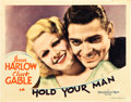 "Movie Posters:Drama, Hold Your Man (MGM, 1933). Lobby Card (11"" X 14"").. ..."