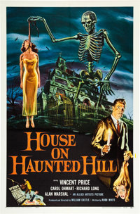 "House on Haunted Hill (Allied Artists, 1959). One Sheet (27"" X 41"")"