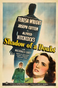 "Movie Posters:Hitchcock, Shadow of a Doubt (Universal, 1943). One Sheet (27"" X 41""). Style C.. ..."