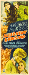 "Movie Posters:Action, Allegheny Uprising (RKO, 1939). Insert (14"" X 36"").. ..."