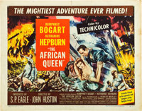 """The African Queen (United Artists, 1952). Half Sheet (22"""" X 28""""). Style B"""