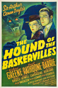 """Movie Posters:Mystery, The Hound Of The Baskervilles (20th Century Fox, 1939). One Sheet(27"""" X 41"""").. ..."""