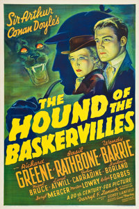 """The Hound Of The Baskervilles (20th Century Fox, 1939). One Sheet (27"""" X 41"""")"""