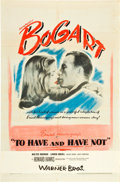 """Movie Posters:Romance, To Have and Have Not (Warner Brothers, 1944). One Sheet (27"""" X 41"""").. ..."""