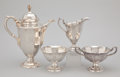 Silver Holloware, American:Coffee Pots, AN AMERICAN FOUR-PIECE SILVER COFFEE SERVICE . Gorham Manufacturing Co., Providence, Rhode Island, circa 1930 . Marks: GOR... (Total: 4 Items)