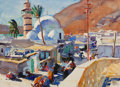 Mainstream Illustration, DEAN CORNWELL (American, 1892-1960). The Little Fishing Villageof Tiberias on the Sea of Galilee, American Weekly magazin...
