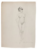 Paintings, CHARLES GATES SHELDON (American, 1889-1960). Three Figural Nude Portraits. Pencil on paper. 24 x 18 in. (each). All sign... (Total: 3 Items)