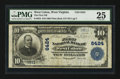 National Bank Notes:West Virginia, West Union, WV - $10 1902 Plain Back Fr. 624 The First NB Ch. #6424. ...