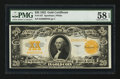 Large Size:Gold Certificates, Fr. 1187 $20 1922 Gold Certificate PMG Choice About Unc 58 EPQ.....