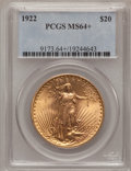 Saint-Gaudens Double Eagles, 1922 $20 MS64+ PCGS. PCGS Population (6781/1181). NGC Census:(6965/482). Mintage: 1,375,500. Numismedia Wsl. Price for pro...