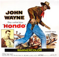 "Movie Posters:Western, Hondo (Warner Brothers, 1953). Six Sheet (81"" X 81"").. ..."