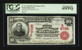 National Bank Notes:West Virginia, Beckley, WV - $10 1902 Red Seal Fr. 613 The First NB Ch. # (S)6735....