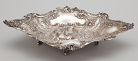 A GERMAN SILVER DISH Maker unidentified, probably Hannau, Germany, circa 1890 Marks: (crown), H wit