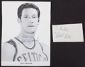 Basketball Collectibles:Others, Pete Maravich and John Havlicek Signed Memorabilia Lot of 2....