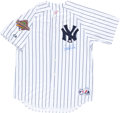 Baseball Collectibles:Uniforms, Derek Jeter Signed Jersey - With 1996 World Series Patch....