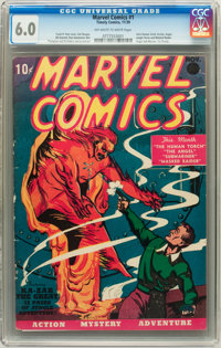Marvel Comics #1 (Timely, 1939) CGC FN 6.0 Off-white to white pages