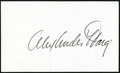 Miscellaneous Collectibles:General, Alexander Haig Signed Index Card....