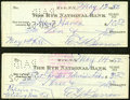 Baseball Collectibles:Others, Ed Barrow Signed Checks Lot of 2. ...