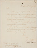 "Autographs:Statesmen, James McHenry Letter Signed as Secretary of War ""JamesMcHenry""...."