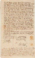 "Autographs:Statesmen, George Ross, Signer of the Declaration of Independence, DocumentSigned ""Geo. Ross""...."